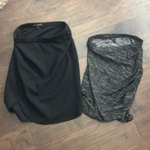 TWO banana Republic fitted soft skirts